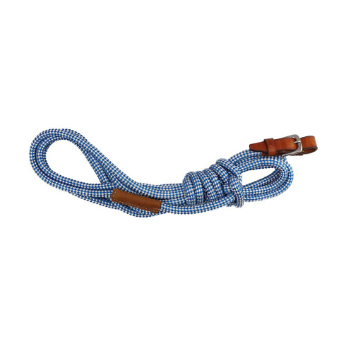 Bodenarbeitsseil für Bodenarbeit & Longieren Blau Weiß Braun Picadera