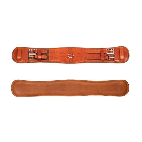 Kurzgurt für den Sattel aus havannafarbenem Leder bei Picadera
