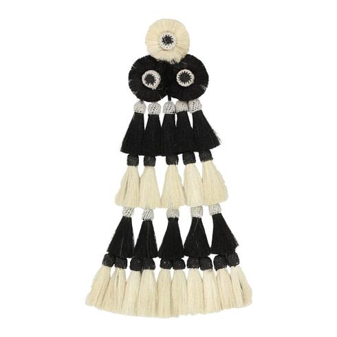 Mosquero Weiß Schwarz 25 Borlas für Vaquerotrensen Picadera