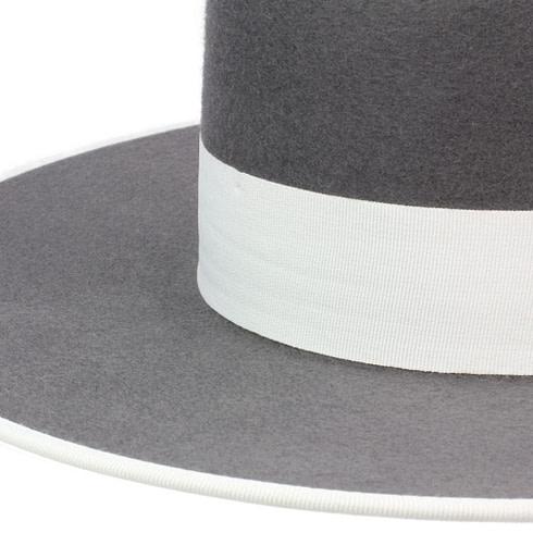 Spanischer Filzhut zum Reiten Grau mit Hutband Picadera