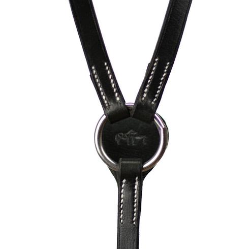 Working Equitation Vorderzeug in Schwarz mit silbernen Schnallen von Picadera Detail