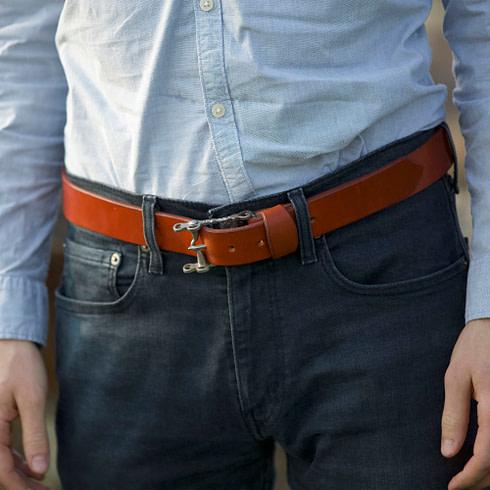 Spanischer Ledergürtel Vaquero für Herren Detail Picadera