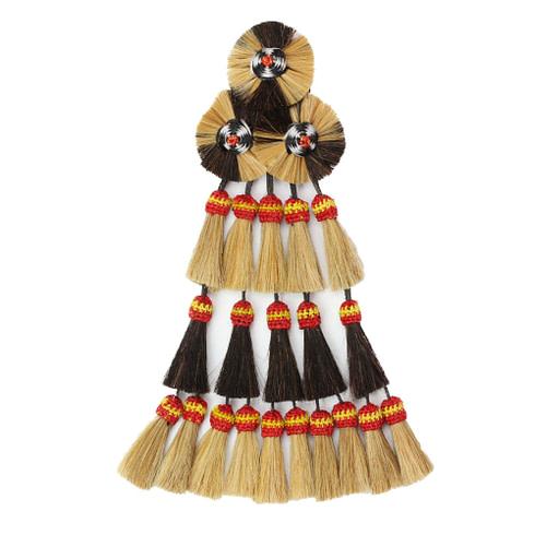 Mosquero aus Pferdehaaren gefertigt in den spanischen Farben mit 20 Borlas